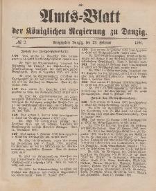 Amts-Blatt der Königlichen Regierung zu Danzig, 29. Februar 1896, Nr. 9