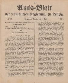 Amts-Blatt der Königlichen Regierung zu Danzig, 4. April 1896, Nr. 14
