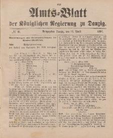 Amts-Blatt der Königlichen Regierung zu Danzig, 18. April 1896, Nr. 16