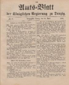 Amts-Blatt der Königlichen Regierung zu Danzig, 25. April 1896, Nr. 17