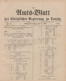 Amts-Blatt der Königlichen Regierung zu Danzig, 16. Mai 1896, Nr. 20