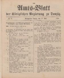 Amts-Blatt der Königlichen Regierung zu Danzig, 23. Mai 1896, Nr. 21