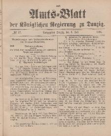 Amts-Blatt der Königlichen Regierung zu Danzig, 4. Juli 1896, Nr. 27