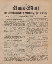 Amts-Blatt der Königlichen Regierung zu Danzig, 11. Juli 1896, Nr. 28