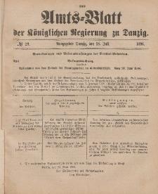 Amts-Blatt der Königlichen Regierung zu Danzig, 18. Juli 1896, Nr. 29