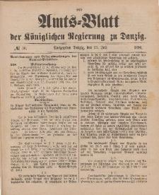 Amts-Blatt der Königlichen Regierung zu Danzig, 25. Juli 1896, Nr. 30