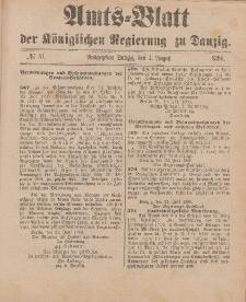 Amts-Blatt der Königlichen Regierung zu Danzig, 1. August 1896, Nr. 31
