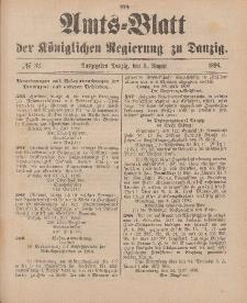 Amts-Blatt der Königlichen Regierung zu Danzig, 8. August 1896, Nr. 32
