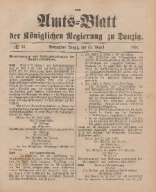 Amts-Blatt der Königlichen Regierung zu Danzig, 15. August 1896, Nr. 33