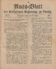 Amts-Blatt der Königlichen Regierung zu Danzig, 22. August 1896, Nr. 34