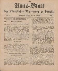 Amts-Blatt der Königlichen Regierung zu Danzig, 29. August 1896, Nr. 35