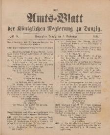 Amts-Blatt der Königlichen Regierung zu Danzig, 5. September 1896, Nr. 36