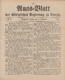 Amts-Blatt der Königlichen Regierung zu Danzig, 12. September 1896, Nr. 37