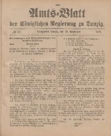 Amts-Blatt der Königlichen Regierung zu Danzig, 26. September 1896, Nr. 39