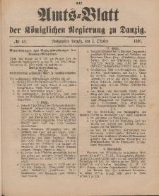 Amts-Blatt der Königlichen Regierung zu Danzig, 3. Oktober 1896, Nr. 40