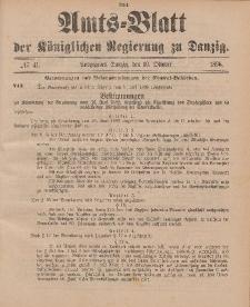 Amts-Blatt der Königlichen Regierung zu Danzig, 10. Oktober 1896, Nr. 41