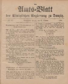 Amts-Blatt der Königlichen Regierung zu Danzig, 17. Oktober 1896, Nr. 42