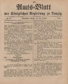 Amts-Blatt der Königlichen Regierung zu Danzig, 24. Oktober 1896, Nr. 43
