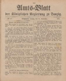 Amts-Blatt der Königlichen Regierung zu Danzig, 21. November 1896, Nr. 47