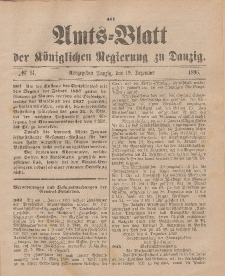 Amts-Blatt der Königlichen Regierung zu Danzig, 19. Dezember 1896, Nr. 51