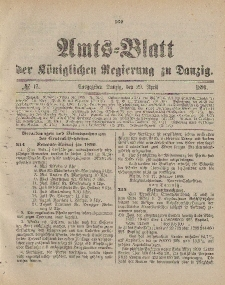 Amts-Blatt der Königlichen Regierung zu Danzig, 29. April 1899, Nr. 17