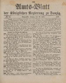 Amts-Blatt der Königlichen Regierung zu Danzig, 10. Juni 1899, Nr. 23