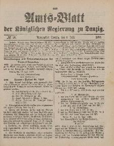 Amts-Blatt der Königlichen Regierung zu Danzig, 1. Juli 1899, Nr. 26