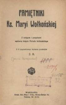 Pamiętniki ks. Maryi Wołkońskiej