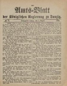 Amts-Blatt der Königlichen Regierung zu Danzig, 5. August 1899, Nr. 31