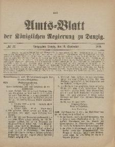 Amts-Blatt der Königlichen Regierung zu Danzig, 16. September 1899, Nr. 37