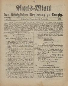 Amts-Blatt der Königlichen Regierung zu Danzig, 30. September 1899, Nr. 39