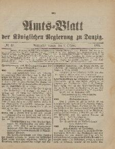 Amts-Blatt der Königlichen Regierung zu Danzig, 7. Oktober 1899, Nr. 40
