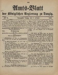 Amts-Blatt der Königlichen Regierung zu Danzig, 14. Oktober 1899, Nr. 41