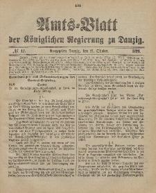 Amts-Blatt der Königlichen Regierung zu Danzig, 21. Oktober 1899, Nr. 42