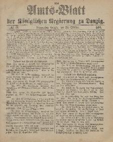 Amts-Blatt der Königlichen Regierung zu Danzig, 28. Oktober 1899, Nr. 43