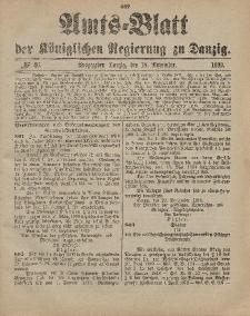 Amts-Blatt der Königlichen Regierung zu Danzig, 18. November 1899, Nr. 46
