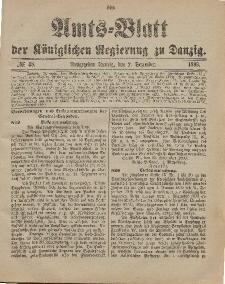 Amts-Blatt der Königlichen Regierung zu Danzig, 2. Dezember 1899, Nr. 48