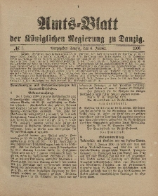 Amts-Blatt der Königlichen Regierung zu Danzig, 6. Januar 1900, Nr. 1