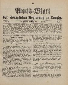 Amts-Blatt der Königlichen Regierung zu Danzig, 13. Januar 1900, Nr. 2