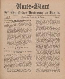 Amts-Blatt der Königlichen Regierung zu Danzig, 1. Januar 1898, Nr. 1