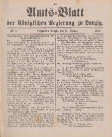 Amts-Blatt der Königlichen Regierung zu Danzig, 15. Januar 1898, Nr. 3