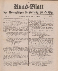 Amts-Blatt der Königlichen Regierung zu Danzig, 22. Januar 1898, Nr. 4