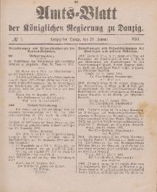 Amts-Blatt der Königlichen Regierung zu Danzig, 29. Januar 1898, Nr. 5