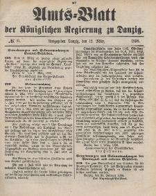 Amts-Blatt der Königlichen Regierung zu Danzig, 12. März 1898, Nr. 11