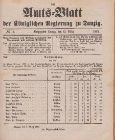 Amts-Blatt der Königlichen Regierung zu Danzig, 19. März 1898, Nr. 12