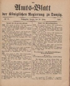 Amts-Blatt der Königlichen Regierung zu Danzig, 26. März 1898, Nr. 13