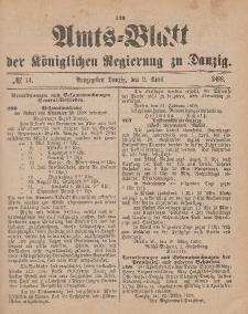 Amts-Blatt der Königlichen Regierung zu Danzig, 2. April 1898, Nr. 14