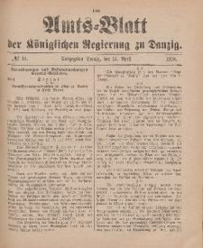 Amts-Blatt der Königlichen Regierung zu Danzig, 16. April 1898, Nr. 16