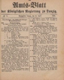 Amts-Blatt der Königlichen Regierung zu Danzig, 30. April 1898, Nr. 18
