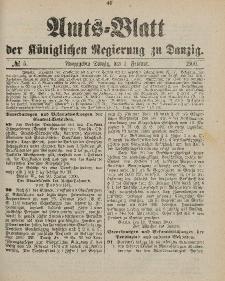 Amts-Blatt der Königlichen Regierung zu Danzig, 3. Februar 1900, Nr. 5